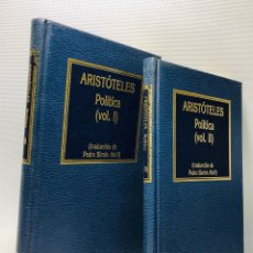 Libros de segunda mano: ARISTOTELES ·· POLITICA ·· ··· 2 VOLS. ED. ORBIS. Lote 154426334