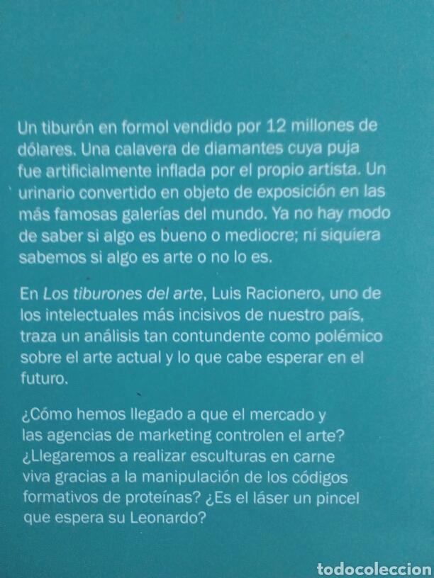 Libros de segunda mano: Los tiburones del arte. Luis Racionero - Foto 2 - 154744950