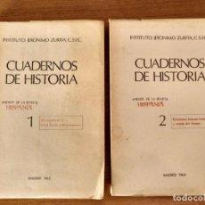 Libros de segunda mano: CUADERNOS DE HISTORIA 1 Y 2, INSTITUTO JERÓNIMO ZURITA C.S.IC.. Lote 155159890