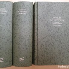 Libros de segunda mano: ANALES DE HISTORIA NATURAL 1799-1804 (3 TOMOS) -FACSÍMIL- BOTÁNICA, MINERALES, MEDICINA, ASTRONOMÍA. Lote 155178098