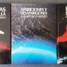 Libros de segunda mano: EL MUNDO DE LO INSÓLITO CRIATURAS DEL MAS ALLÁ APARAICIONES Y DESAPARICIONES EL ENIGMA DEL TIEMPO . Lote 155248250