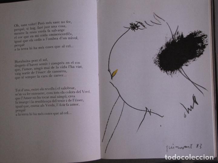 Libros de segunda mano: Libro editado por Editorial Druida, con poemas de Blai Bonet y 7 dibujos de Guinovart - Foto 2 - 155414302