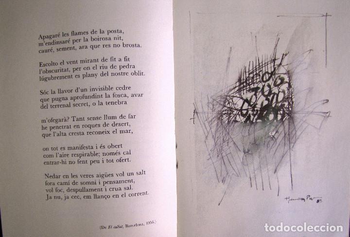 Libros de segunda mano: LIBRO EDITADO POR EDITORIAL DRUIDA, CON POEMAS DE JOAN VINYOLI Y 4 ilustraciones de H. Pijuan - Foto 2 - 155518530