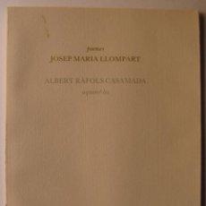 Libros de segunda mano: LIBRO EDITADO POR EDITORIAL DRUIDA, POEMAS JOSEP M. LLOMPARET Y 5 ILUSTRACIONES DE RAFOLS CASAMADA. Lote 155520442