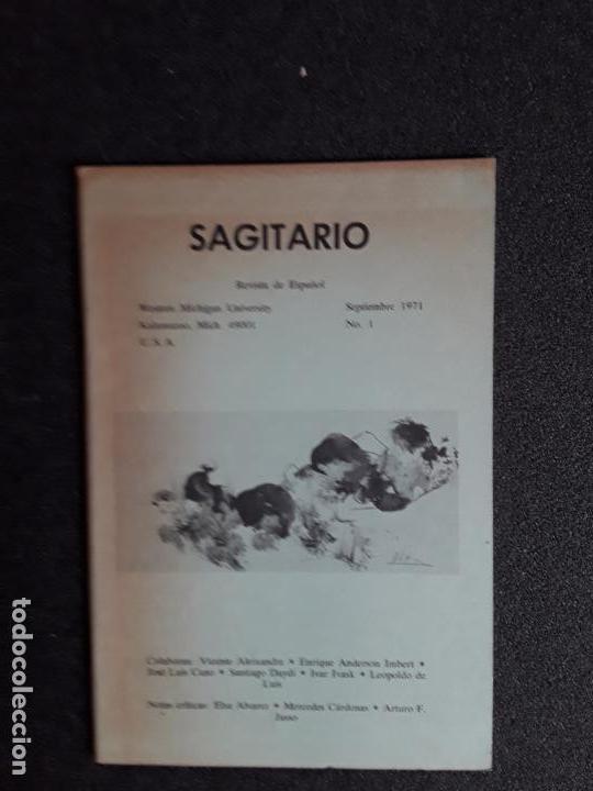 SAGITARIO. REVISTA DE ESPAÑOL. SEPTIEMBRE 1971, Nº 1. WESTERN MICHIGAN UNIVERSITY. (Libros de Segunda Mano (posteriores a 1936) - Literatura - Otros)