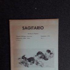 Libros de segunda mano: SAGITARIO. REVISTA DE ESPAÑOL. SEPTIEMBRE 1971, Nº 1. WESTERN MICHIGAN UNIVERSITY.. Lote 155563690