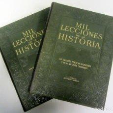 Libros de segunda mano: MIL LECCIONES DE LA HISTORIA. 2 TOMOS (1 Y 2) GALLACH 1951. TAPA DURA. ILUSTRADOS. . Lote 155582534