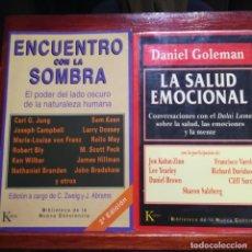 Libros de segunda mano: ENCUENTRO CON LA SOMBRA Y LA SALUD EMOCIONAL-2 LIBROS-NUEVA CONCIENCIA-KAIROS-1994(2ª)-1997(1ª) . Lote 155606462