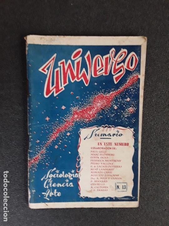 (REVISTA) UNIVERSO, SOCIOLOGÍA, CIENCIA, ARTE. Nº13, 1º DE MAYO DE 1948. TOULOUSE. (Gebrauchte Bücher - Wissenschaften, Handbücher und Berufe - Andere Wissenschaften und Handbücher)