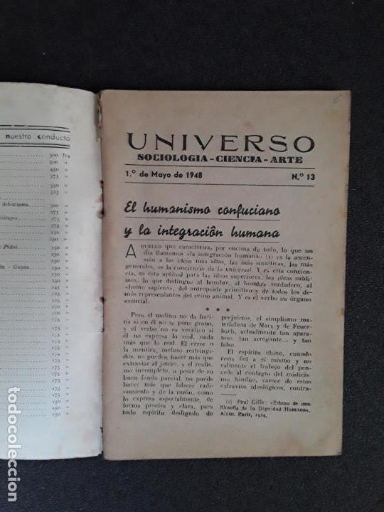 Gebrauchte Bücher: (Revista) Universo, Sociología, Ciencia, Arte. Nº13, 1º de Mayo de 1948. Toulouse. - Foto 3 - 155657262