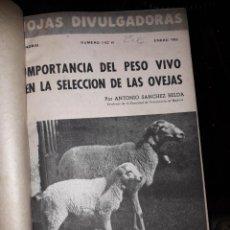 Libros de segunda mano: HOJAS DIVULGADORAS ECUADERNADAS. Lote 155660138