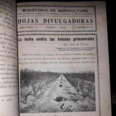 Libros de segunda mano: HOJAS DIVULGADORAS ECUADERNADAS. Lote 155660634