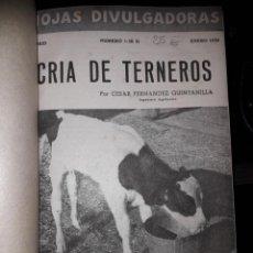 Libros de segunda mano: HOJAS DIVULGADORAS ECUADERNADAS. Lote 155661074