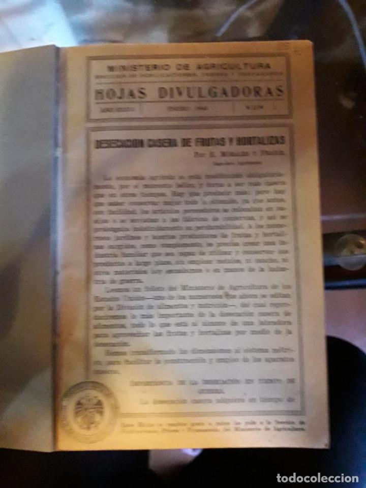 HOJAS DIVULGADORAS ECUADERNADAS (Libros de Segunda Mano - Ciencias, Manuales y Oficios - Otros)