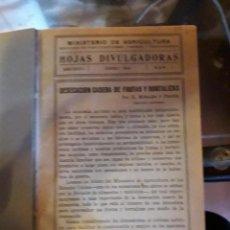 Libros de segunda mano: HOJAS DIVULGADORAS ECUADERNADAS. Lote 155661474