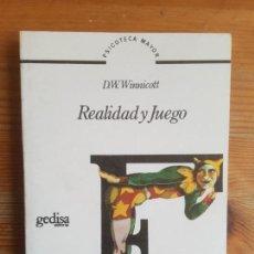 Libros de segunda mano: REALIDAD Y JUEGO WINNICOTT, D. W. PUBLICADO POR GEDISA, (1987) 198PP. Lote 155668750
