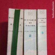 Libros de segunda mano: HISTORIA DE GALICIA. OTERO PEDRAYO. ED. AKAL.1979-80.3 TOMOS.OBRA COMPLETA.. Lote 155678998