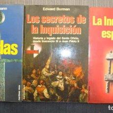 Libros de segunda mano: LOTE LIBROS INQUISICION Y CRUZADAS. ED. MARTINEZ ROCA. BURMAN, ROTH Y LEHMANN. Lote 155744462
