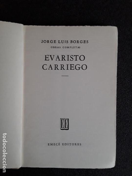 Libros de segunda mano: Borges Jorge Luis. Evaristo Carriego. Buena narrativa. - Foto 2 - 155817490