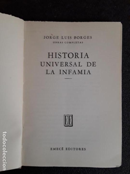 Libros de segunda mano: Borges Jorge Luis. Historia universal de la infamia. Buena prosa. - Foto 2 - 155819382