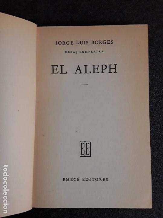 Libros de segunda mano: Borges Jorge Luis. El Aleph. - Foto 2 - 155820246