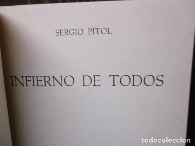 Libros de segunda mano: Infierno de todos (Sergio Pitol) - Foto 4 - 155860798