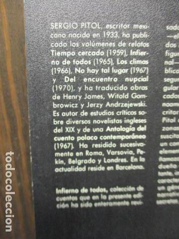 Libros de segunda mano: Infierno de todos (Sergio Pitol) - Foto 11 - 155860798