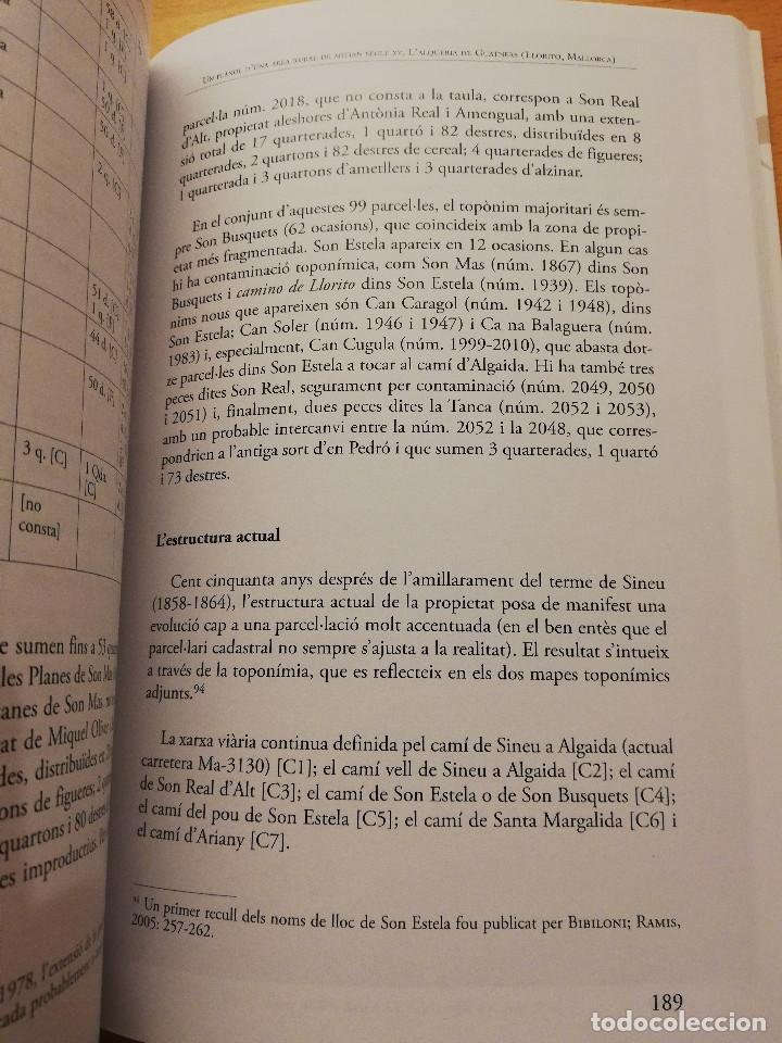 Libros de segunda mano: UN PLÀNOL D'UNA ÀREA RURAL DE MITJAN SEGLE XV (VV. AA.) COL.LECCIÓ SEU DE MALLORCA - Foto 9 - 155865606