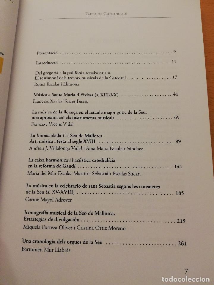 Libros de segunda mano: LA MÚSICA A LA SEU: HISTÒRIA, ART I DEVOCIÓ (VV. AA.) COL.LECCIÓ SEU DE MALLORCA - Foto 3 - 155865930