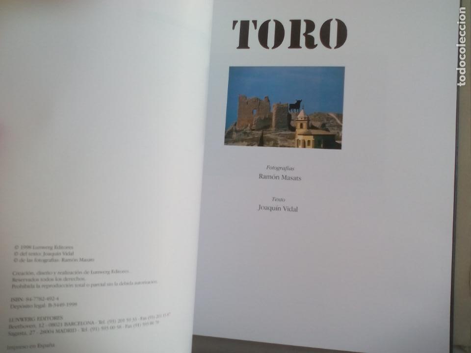 Libros de segunda mano: TORO. RAMÓN MASATS FOTOGRAFÍAS, JOAQUIN VIDAL TEXTO. 1998 LUNWERG EDITORES - Foto 5 - 155868434