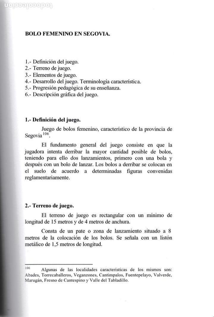 Libros de segunda mano: Juegos tradicionales y deportes autóctonos de Castilla y León / J. C.Martín Nicolás * AUTÓGRAFO * - Foto 5 - 155869286