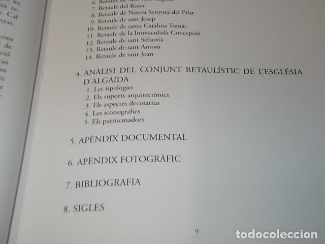 Libros de segunda mano: ELS RETAULES DE L'ESGLÉSIA D' ALGAIDA. MIQUEL ÄNGEL CAPELLÀ. AJUNTAMENT D' ALGAIDA.1999 .MALLORCA - Foto 5 - 155871270