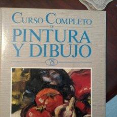 Libros de segunda mano: CURSO DE PINTURA Y DIBUJO.. Lote 155908162