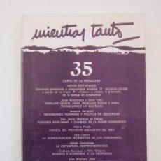 Libros de segunda mano: REVISTA MIENTRAS TANTO Nº 35. Lote 155941942
