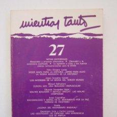 Libros de segunda mano: REVISTA MIENTRAS TANTO Nº 27. Lote 155942418
