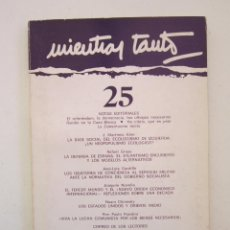 Libros de segunda mano: REVISTA MIENTRAS TANTO Nº 25. Lote 155942470