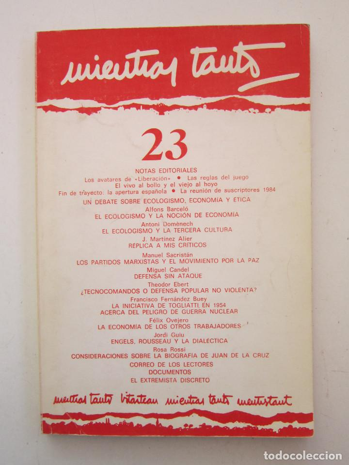 REVISTA MIENTRAS TANTO Nº 23 (Libros de Segunda Mano - Pensamiento - Otros)