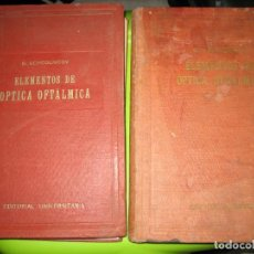 Libros de segunda mano: TOMO I Y II. TÉCNICA DE ÓPTICA OFTALMICA. Lote 155986126