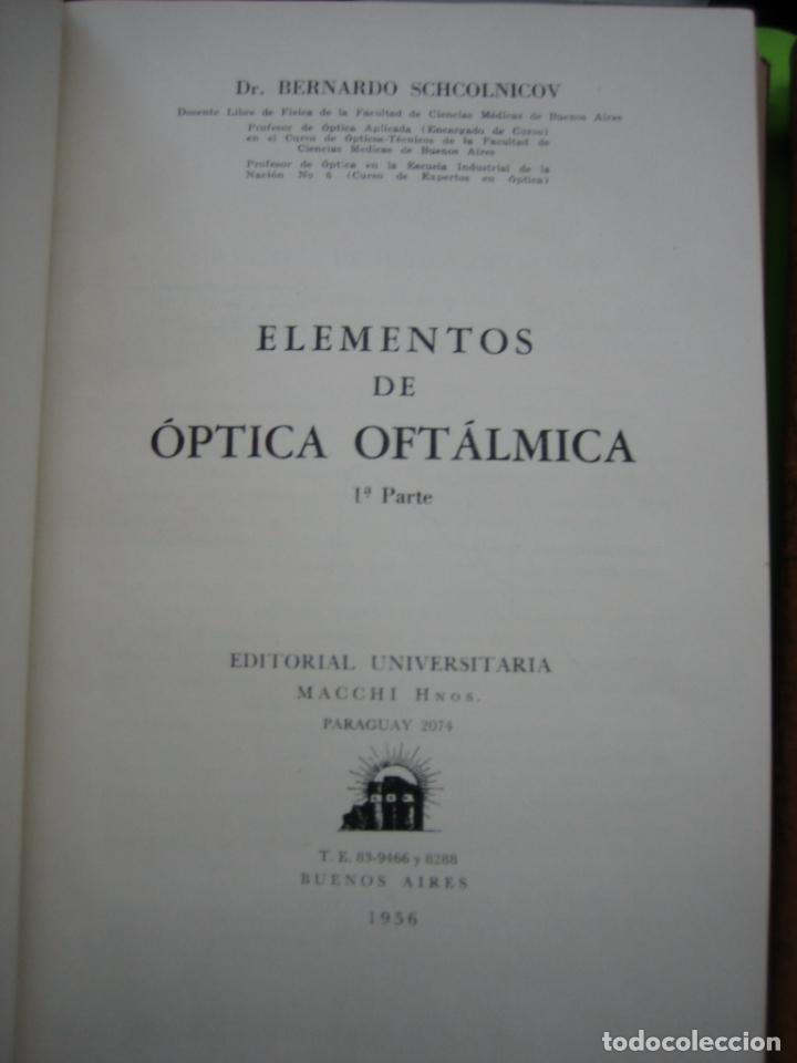 Libros de segunda mano: Tomo I y II. Técnica de Óptica Oftalmica - Foto 5 - 155986126