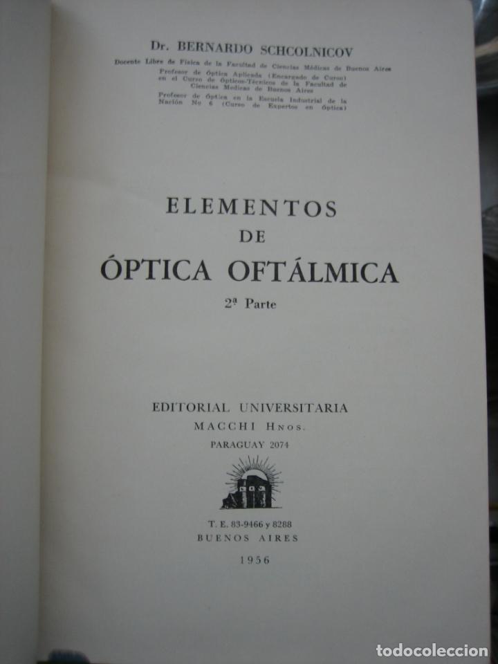 Libros de segunda mano: Tomo I y II. Técnica de Óptica Oftalmica - Foto 8 - 155986126
