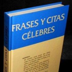 Libros de segunda mano: B2019 - FRASES Y CITAS CELEBRES. AGUSTI BARTRA. GRIJALBO MONDADORI 1994.. Lote 156002502