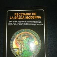 Libros de segunda mano: SARAH LYDDON MORRISON, RECETARIO DE LA BRUJA MODERNA . Lote 156009190