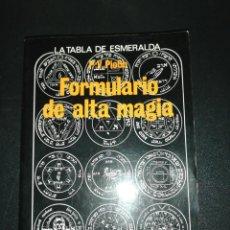Libros de segunda mano: P. V. PIOBB, FORMULARIO DE ALTA MAGIA . Lote 156009250