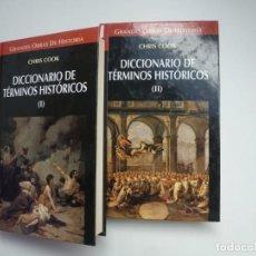Libros de segunda mano: DICCIONARIO DE TÉRMINOS HISTÓRICOS I Y II. CHRIS COOK. ALTAYA. Lote 156027782