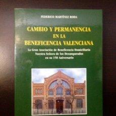 Libros de segunda mano: VALENCIA. CAMBIO Y PERMANENCIA DE LA BENEFICENCIA VALENCIANA. 150 ANIVERSARIO. F. MARTÍNEZ RIOS. Lote 156448181