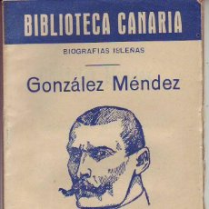 Libros de segunda mano: BIBLIOTECA CANARIA.GONZALEZ MENDEZ - TENERIFE. Lote 156453002