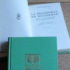 Libros de segunda mano: LA DECADENCIA DE OCCIDENTE. BOSQUEJO DE UNA MORFOLOGÍA DE LA HISTORIA UNIVERSAL. SPENGLER (OSWALD). Lote 156505490