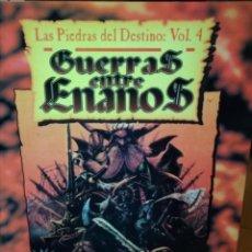 Libros de segunda mano: GUERRAS ENTRE ENANOS, LAS PIEDRAS DEL DESTINO VOL. 4. Lote 156542646