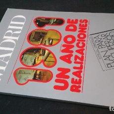 Libri di seconda mano: 1982 - VILLA DE MADRID. REVISTA DEL AYUNTAMIENTO. 1981: UN AÑO DE REALIZACIONES. ESPECIAL URBANISMO. Lote 156553002