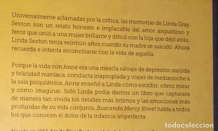 Libros de segunda mano: LINDA GRAY SEXTON - BUSCANDO MERCY STREET. EL REENCUENTRO CON MI MADRE, ANNE SEXTON - Foto 2 - 156011542